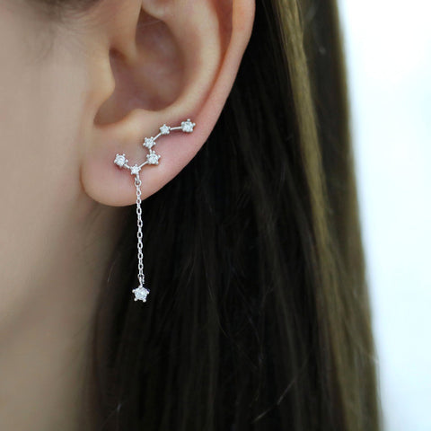 Big Dipper Constellation Ear Climbers