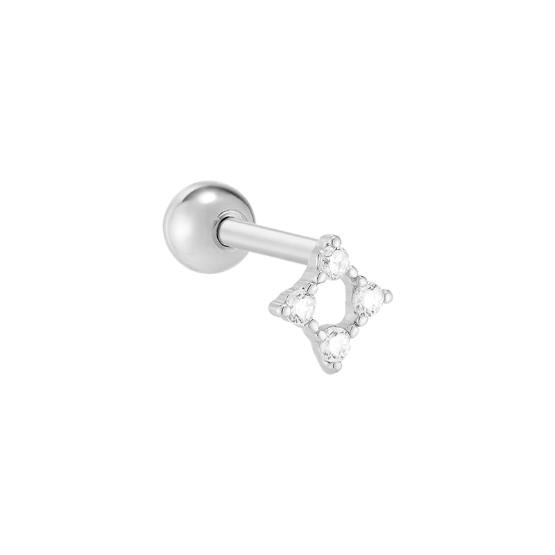 Line Square Cartilage Earring