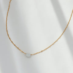Single Baroque Pearl Necklace- Sterling Silver