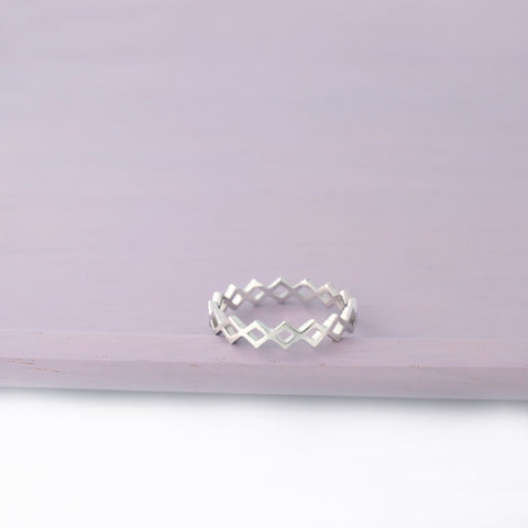 Stacking Chain Band Ring Made From Sterling Silver