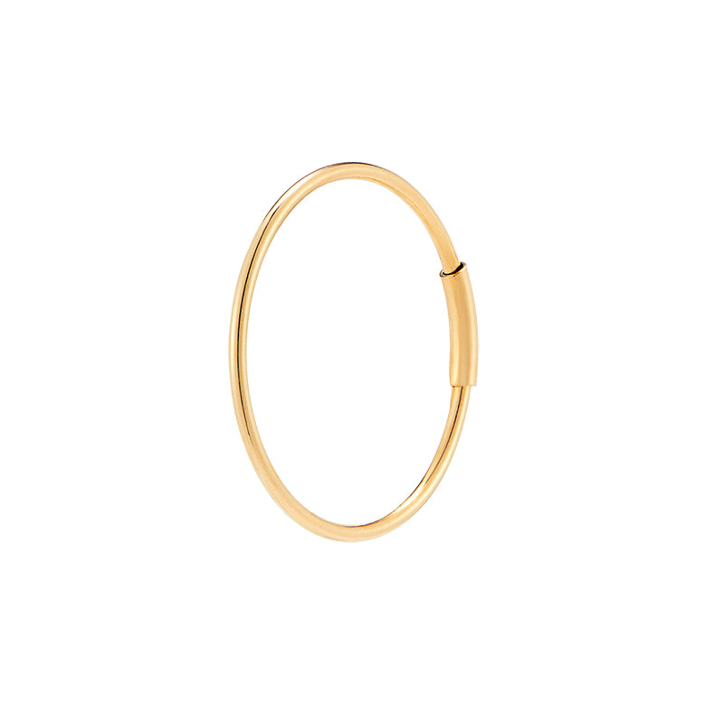 Thin Endless Hoop Earring- 14K Gold