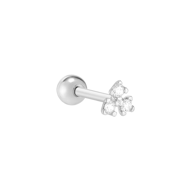 Trio CZ Cartilage Piercing- Sterling Silver