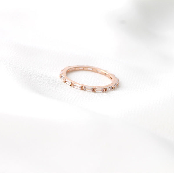 Baguette Eternity Ring- Sterling Silver