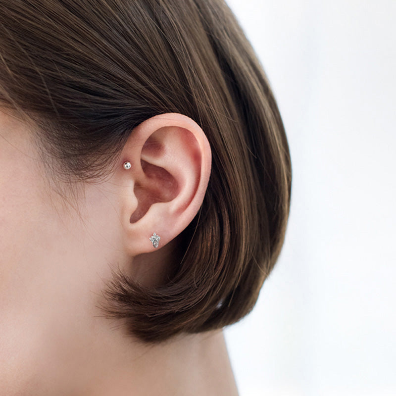 Tiny Ball Barbell Tragus Earring