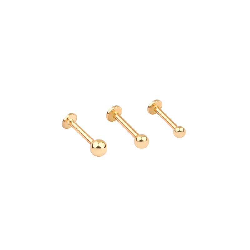 Ball Labret Piercing- 14K Gold