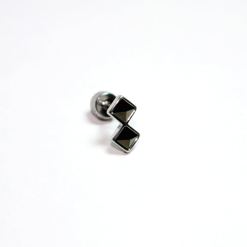 16g black cartilage studs