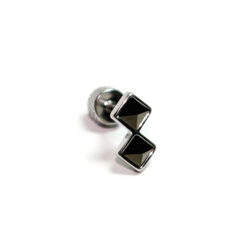 Black Diamond Shaped Cartilage Piercing