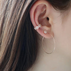 braided ear cuff earring