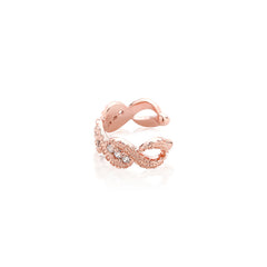 Braided Ear Cuff in Rose Gold