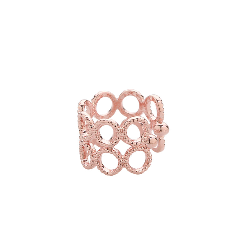 Bubble Ear Cuff in Rose Gold