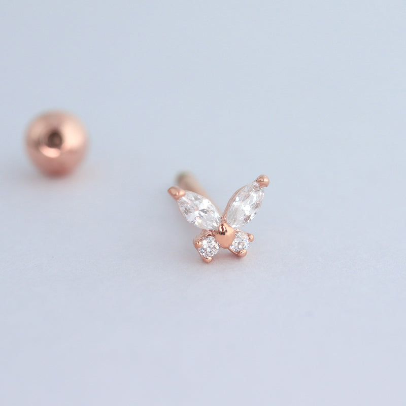 Butterfly Cartilage Piercing- Sterling Silver