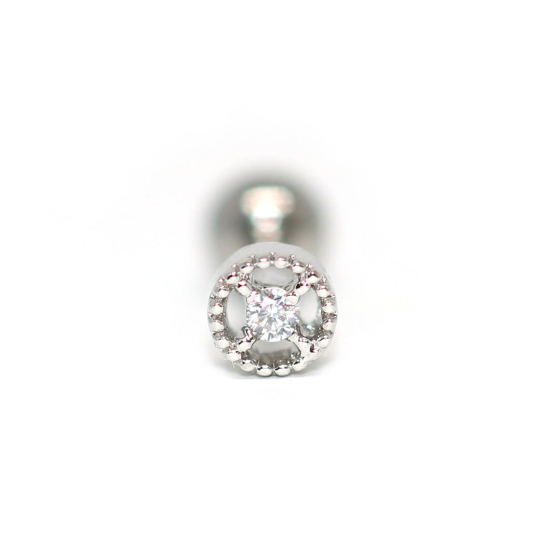 Tiny CZ Circle Tragus Stud