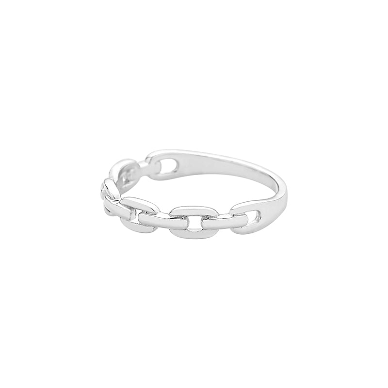 925 silver chain band ring