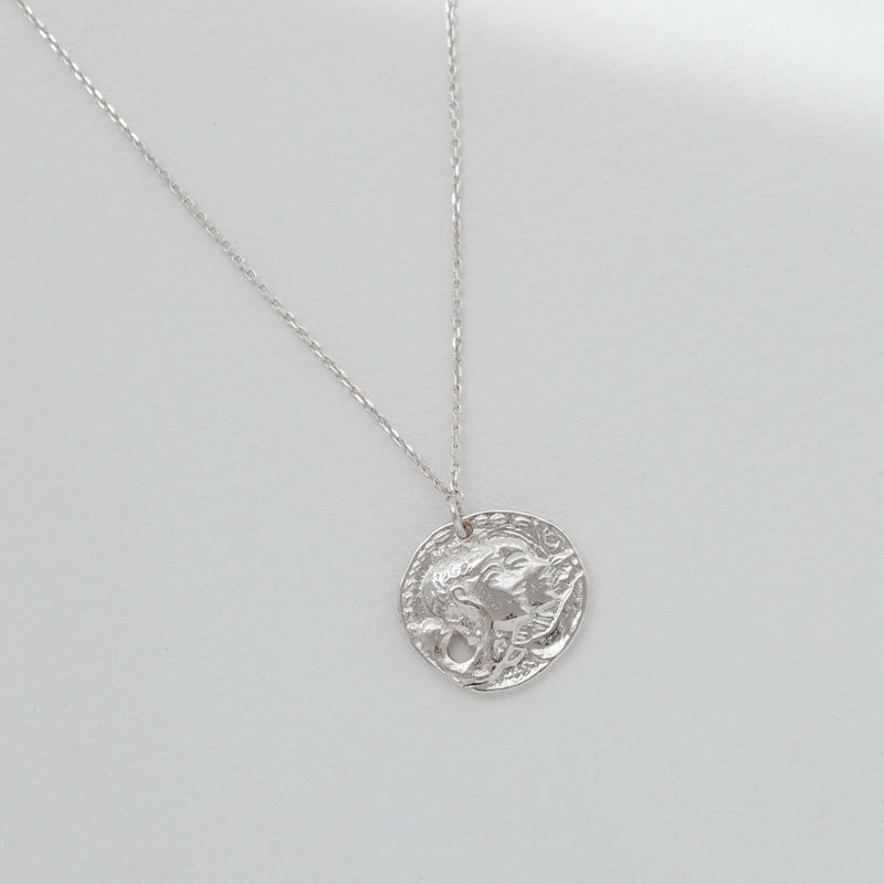Medallion Necklace- Sterling Silver