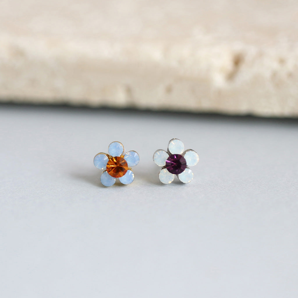 Colorful Pretty Flower Stud Earring