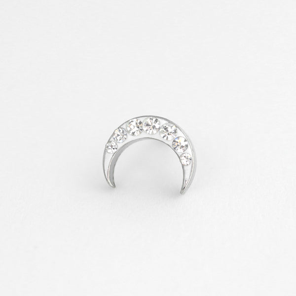 CZ Crescent Moon Cartilage Piercing- 316L Stainless Steel