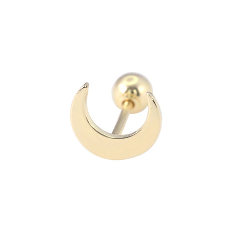 Crescent Moon Ear Piercing in 14K Gold
