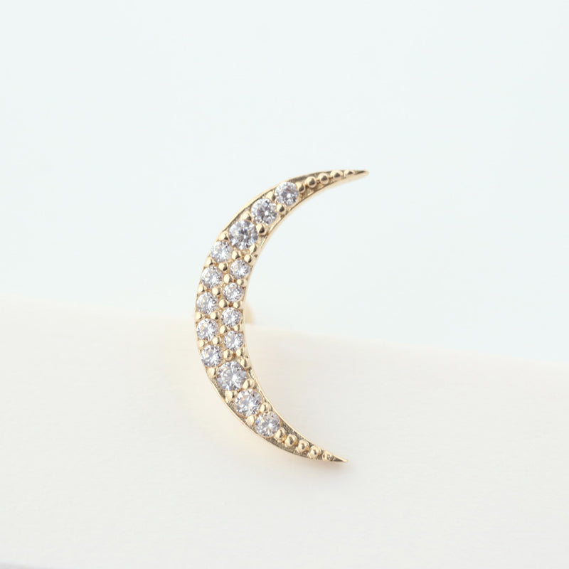 Crescent Moon Helix Piercing- 14K Gold