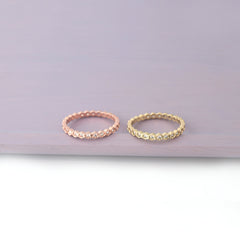 delicate cz eternity ring