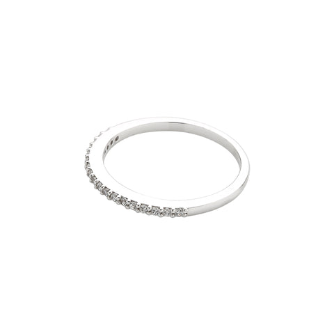 925 Silver Dainty CZ Slim Band Ring