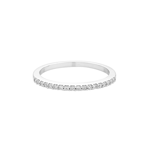 CZ slim band ring made in sterling silver