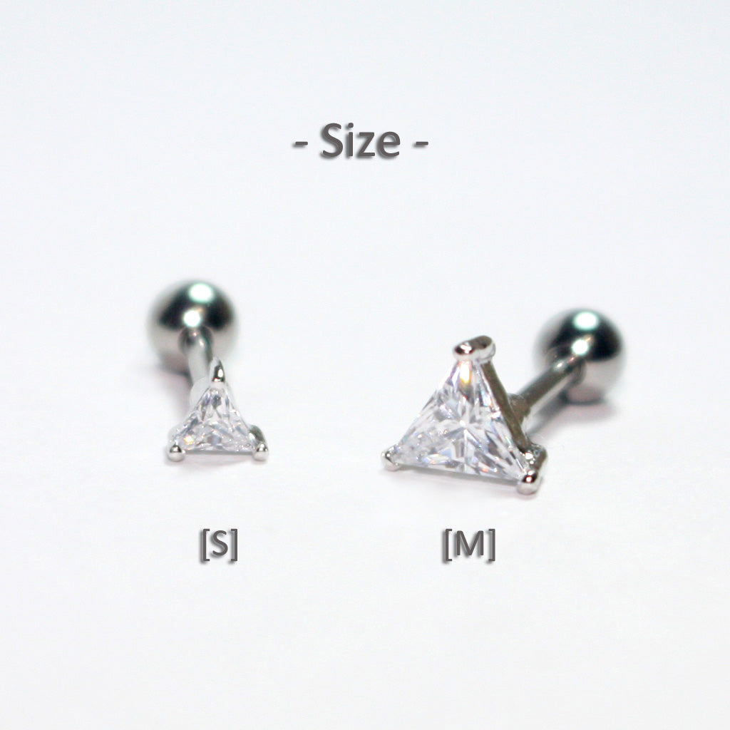 small and medium triangle cartilage studs
