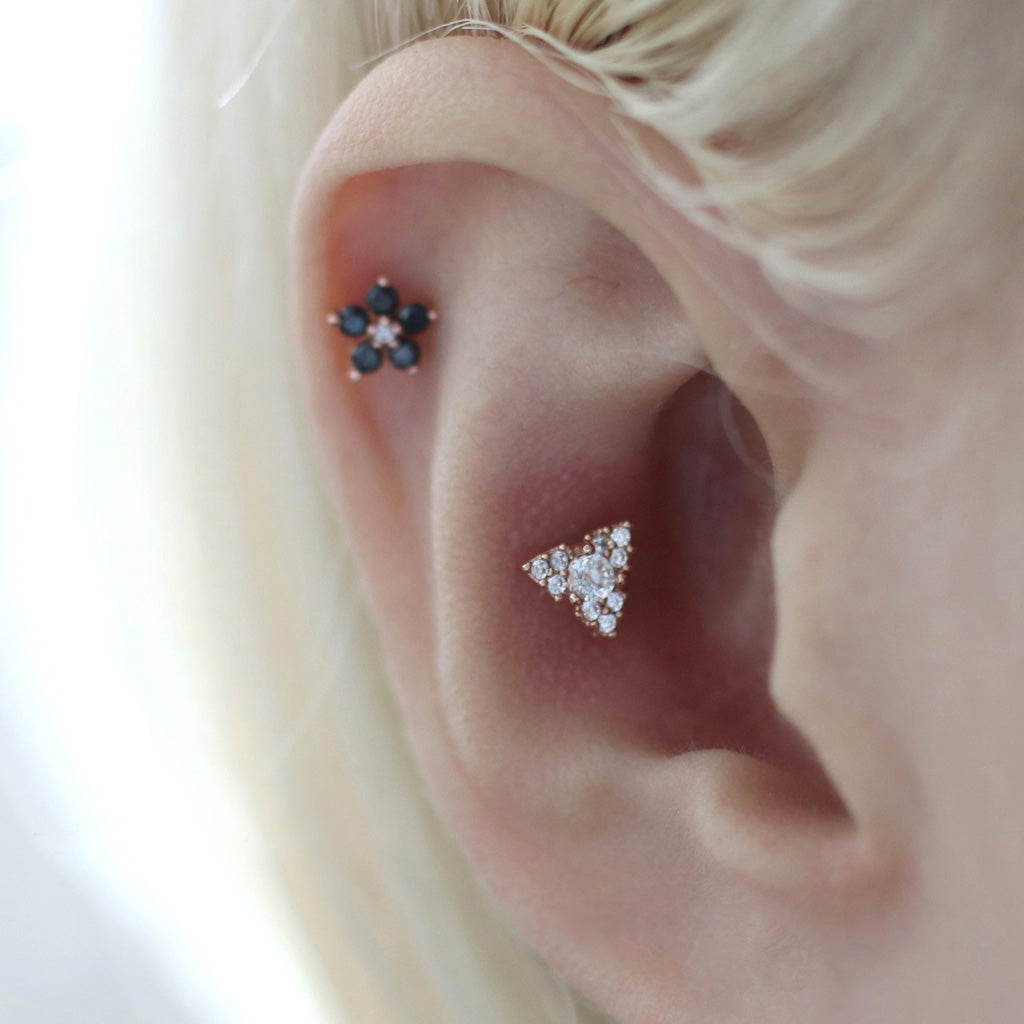 CZ Triangle Cartilage Earring