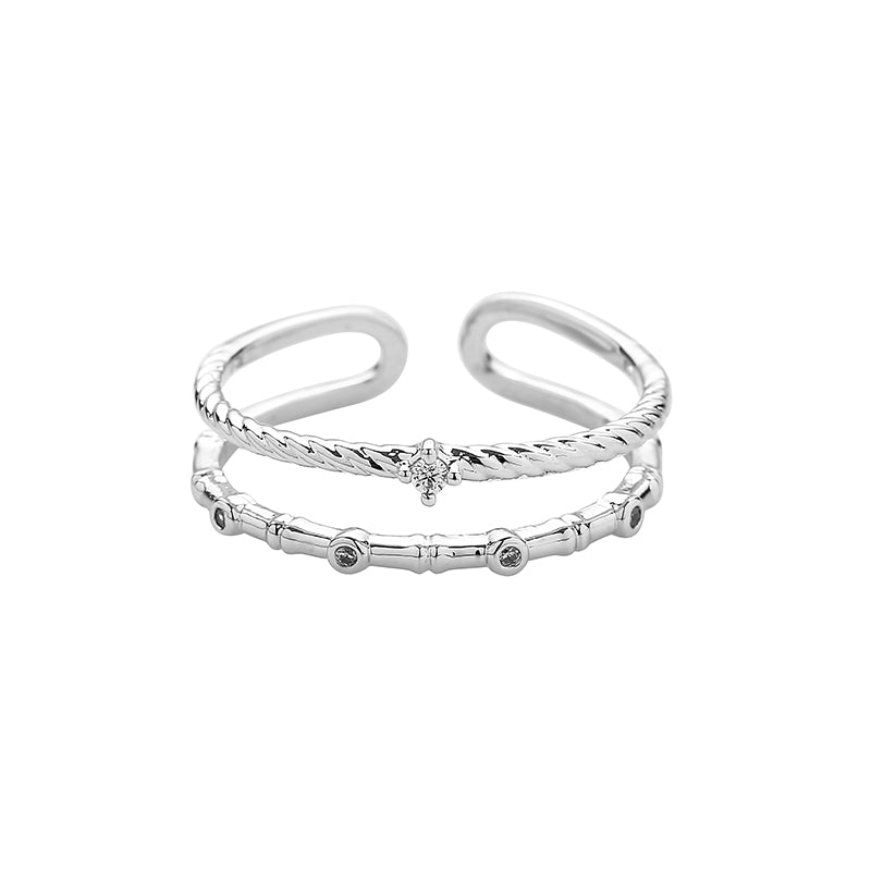 Delicate Double Band Ring Made From Sterling Silver