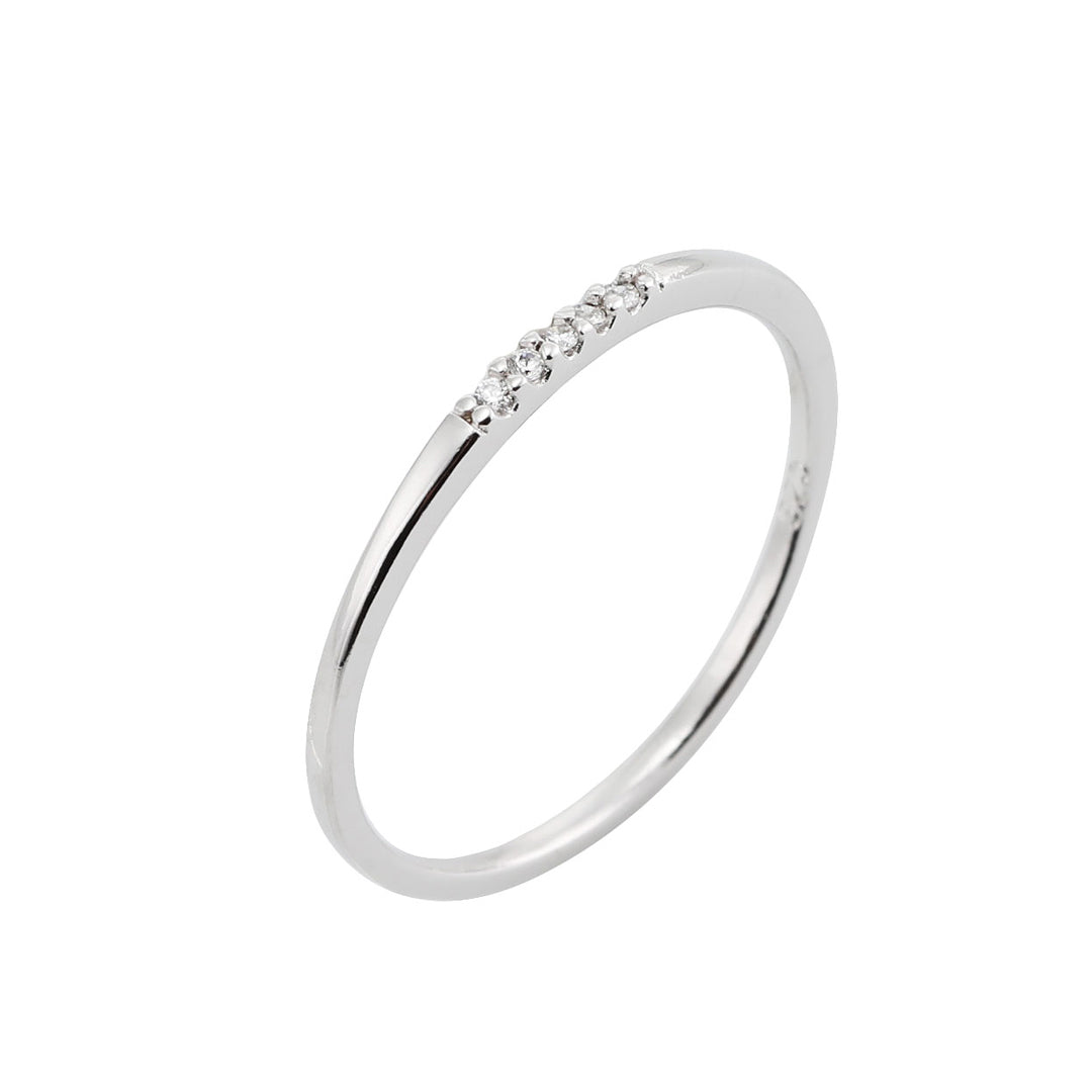 CZ Line Ring Made in Sterling Silver