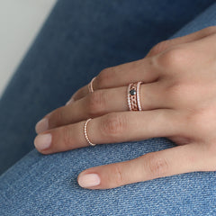 Dainty CZ Eternity Ring- Sterling Silver