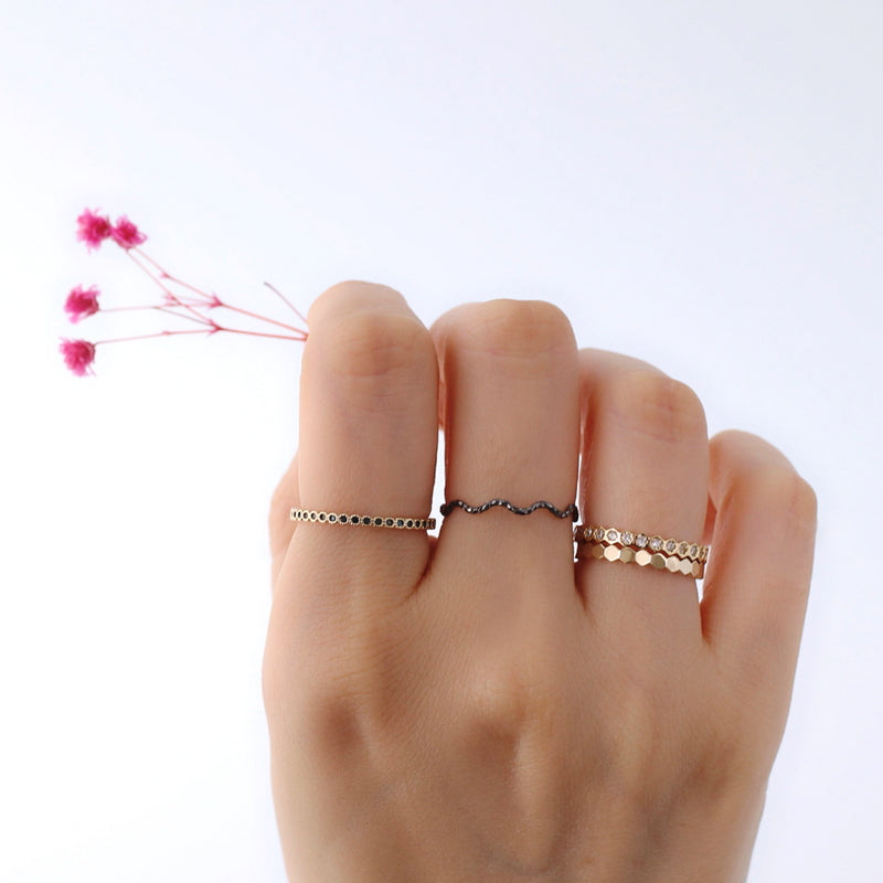 stacking solid band ring made in sterling silver