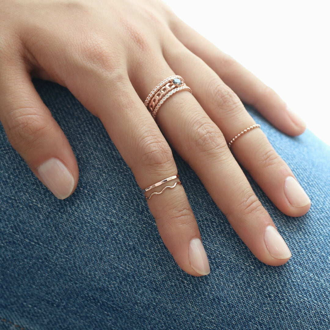 Thin Wave Ring- Sterling Silver