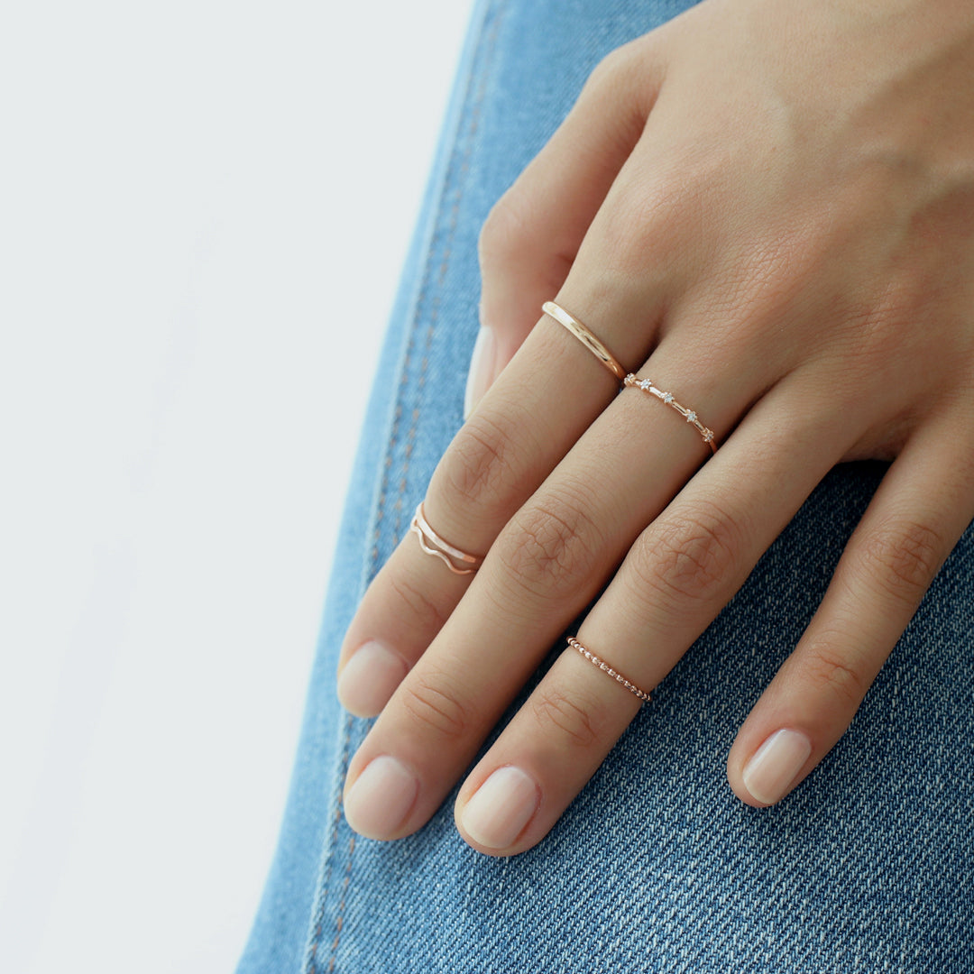 Mini Shine Ring- Sterling Silver