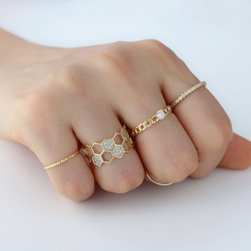 stacking rings made from gold plated sterling silver