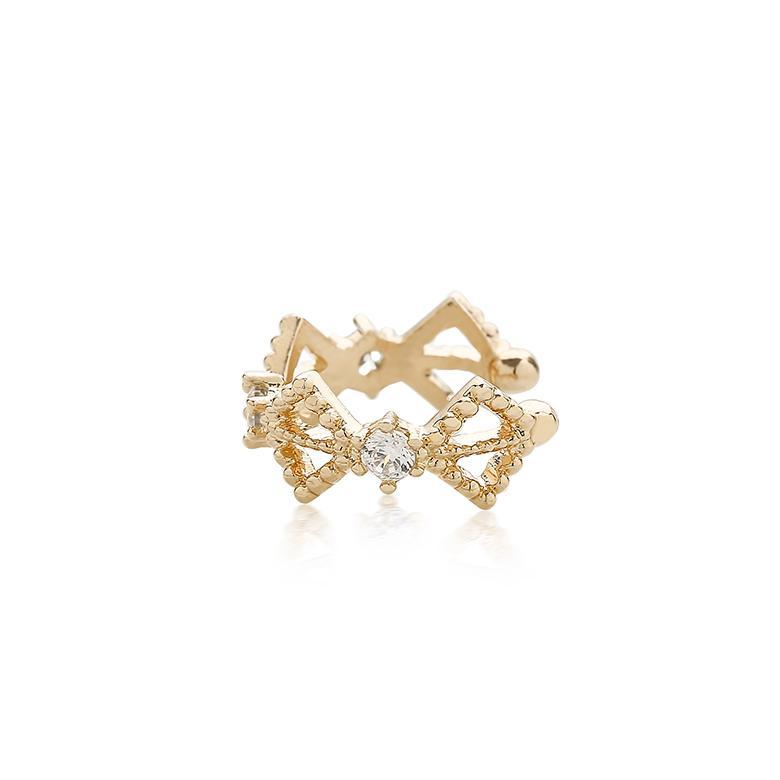 delicate ear cuff conch earring in gold