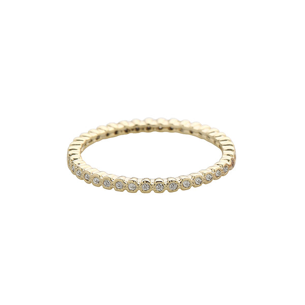 Dainty CZ Eternity Ring Made From Sterling Silver