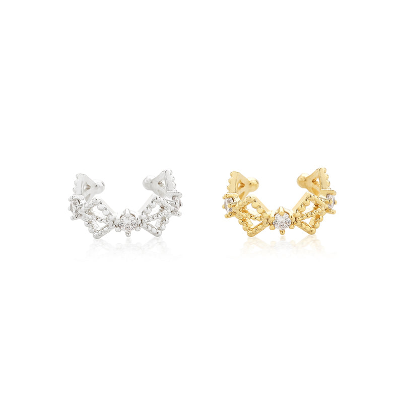 ear cuff in silver and gold