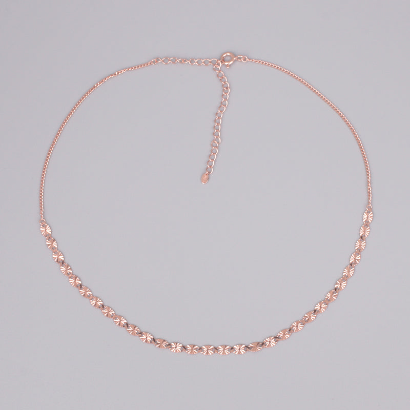 chain choker necklace in rose gold