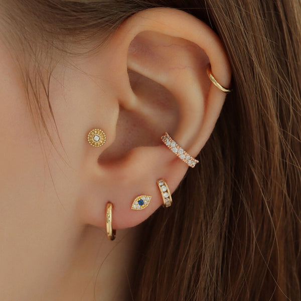 Disc Labret Piercing- 14K Gold