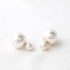 Double Pearl Two Sided Earrings