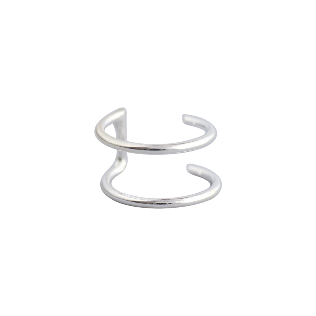 Sterling Silver Double Band Ear Cuff