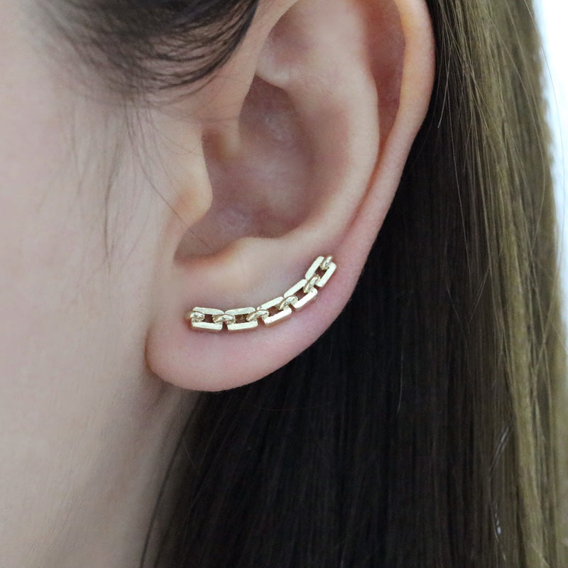 Bold Chain Ear Climbers