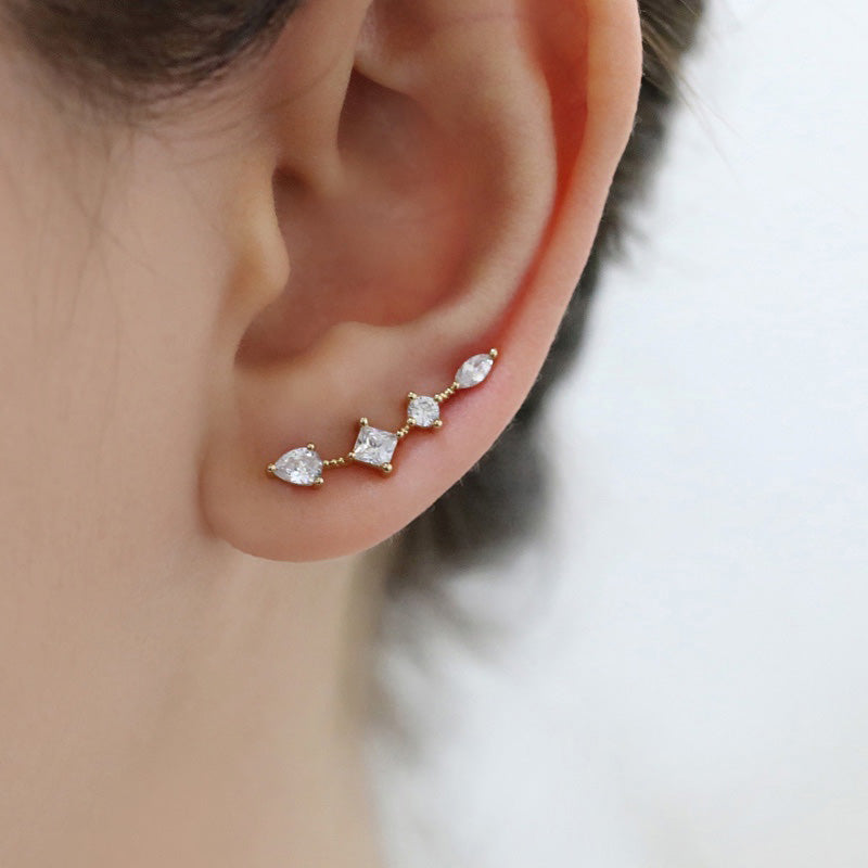 Mix Crystal Ear Climbers