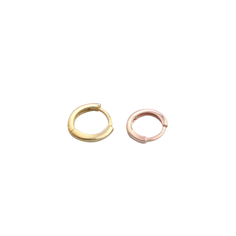 tiny and slim gold huggie hoops