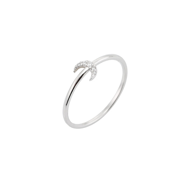 dainty crescent moon ring made in 925 sterling silver