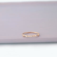 dainty cz sterling silver ring