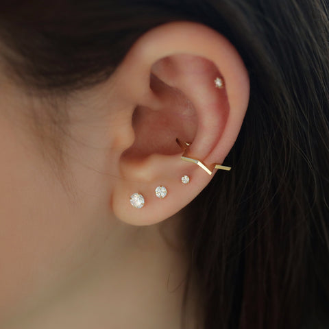 star ear cuff conch piercing