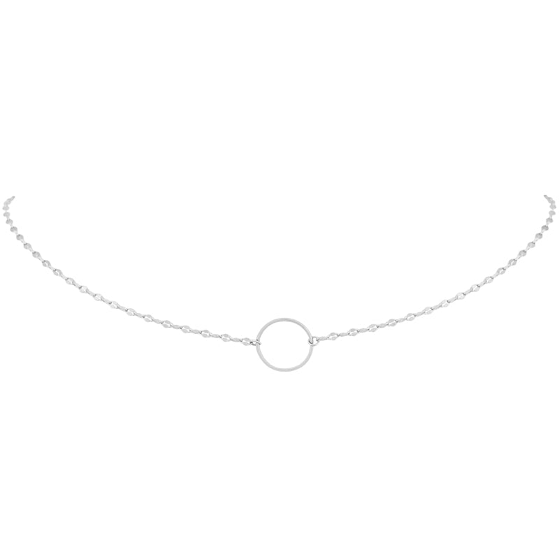 Eternity Chain Choker- Sterling Silver