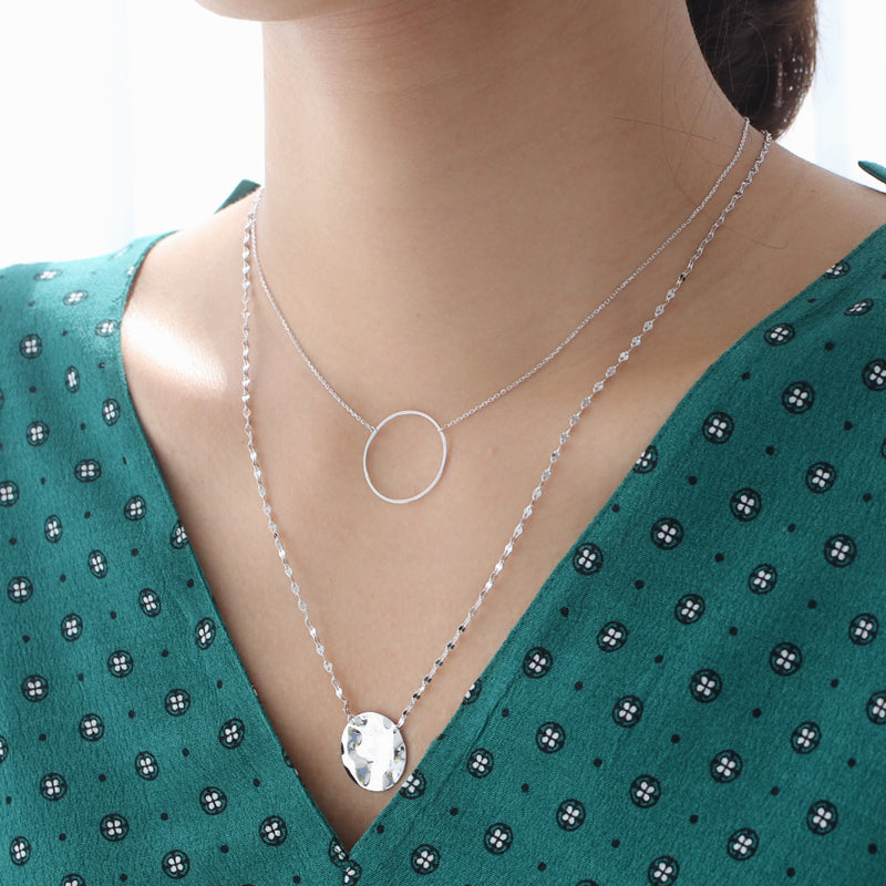 Eternity Circle Necklace- Sterling Silver