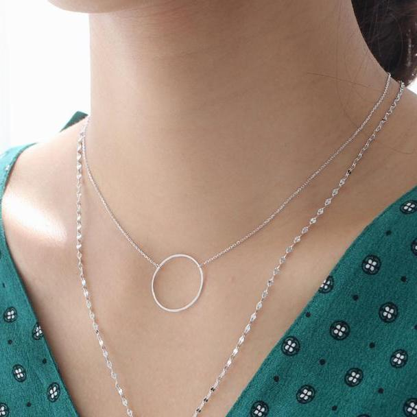 eternity necklace in 925 sterling silver